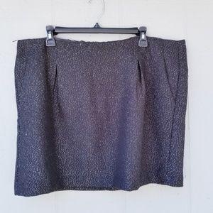 Gap Mini Skirt Sparkle Black Size 18 Plus Size